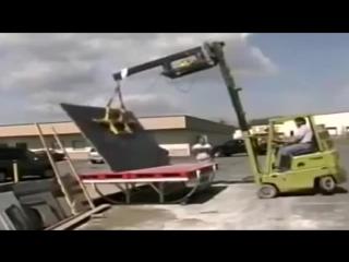 Дебилы на стройке. Приколы со строительной техникой