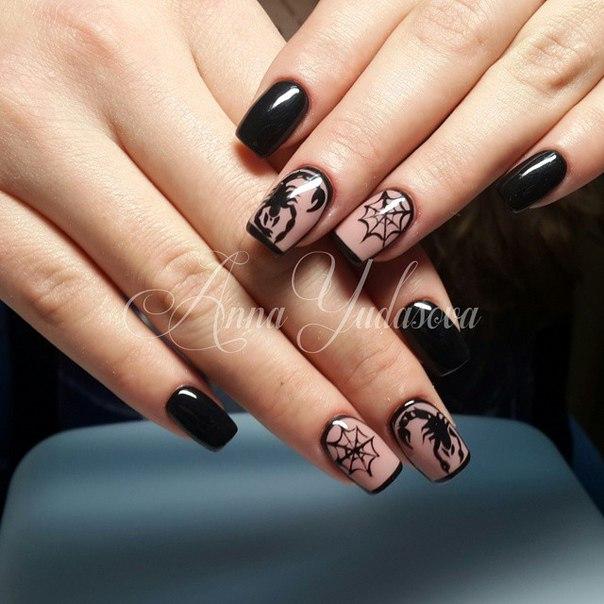 Рисунок скорпион на ногтях
