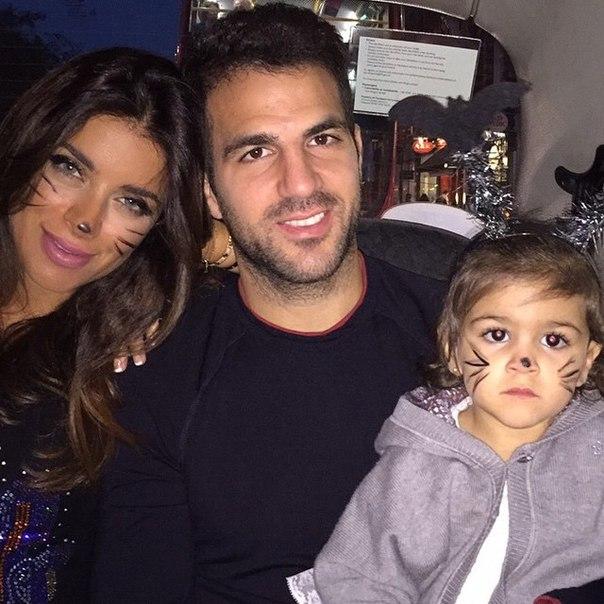 Сеск Фабрегас со своей семьёй