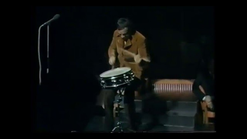 Buddy Rich drum solo Talk of the Town 1969 snare drum only