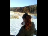 #vlog №1 - ПРОГУЛКА ПО ЛЕСУ И ЛЬДУ РЕКИ, ПОЗИТИВ!:)