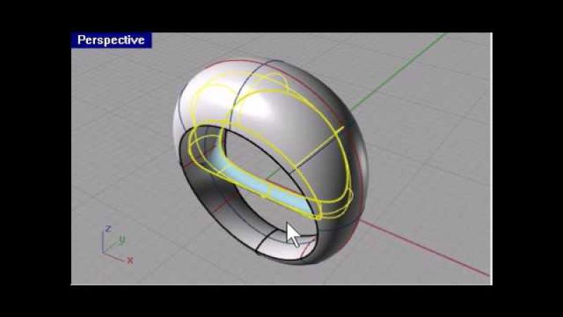 3 minutes | Rhino 3d modeling - Basic Ring