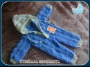 Комбинезон для малыша 0 6 месяцев крючком Часть 3 Jumpsuit for baby 0 6 months crocheted