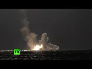 Подводная лодка «Владимир Мономах» успешно выполнила залп баллистических ракет «Булава»