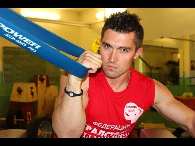 Артем Клименко: тренировка с резиновыми петлями R4P (arm wrestling training with power bands) » Freewka.com - Смотреть онлайн в хорощем качестве