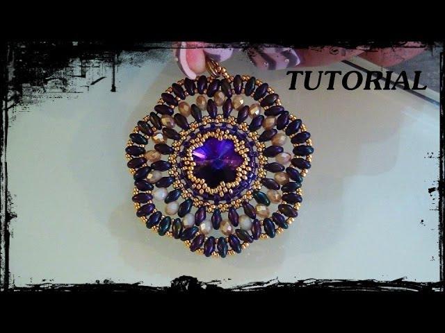 Tutoial Perline: Ciondolo/Orecchini Cristallo Dell'Anima realizzato con superduo, swa e cristalli