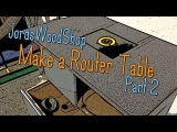 Make Your Own Router Table / Router Cabinet - Part Two