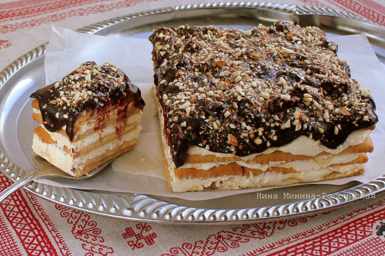 Сделать торт из печенья и творога