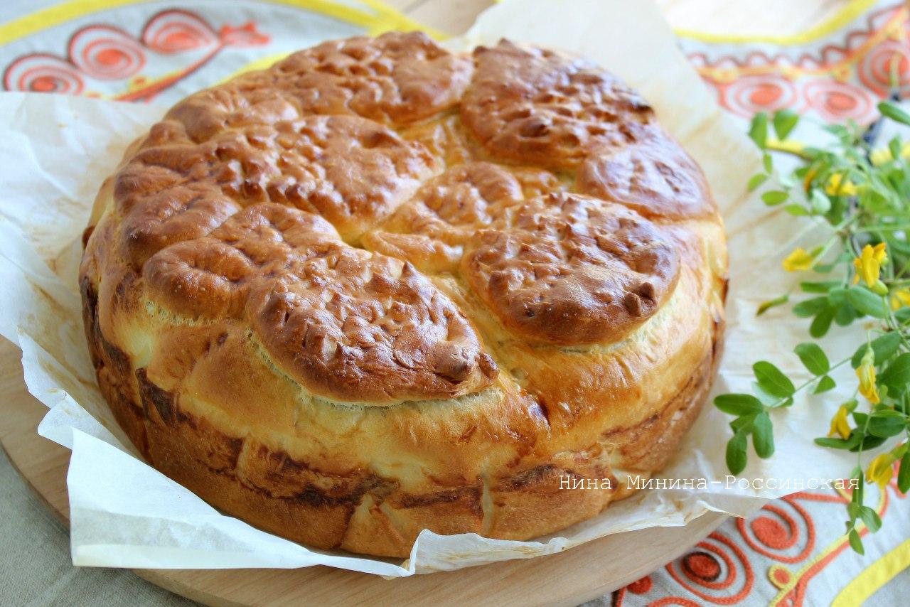 Пирог со свежей горбушей из дрожжевого теста рецепт