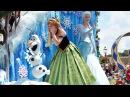 Disney Festival of Fantasy Parade 2015 w/Rapunzel Flynn, FROZEN Anna Elsa, Mickey Minnie