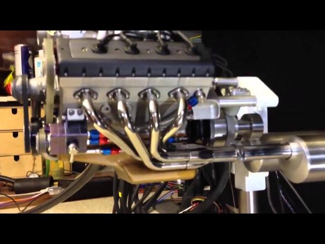 Миниатюрная модель двигателя V8. Очень крутая штука