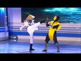 КВН Москва не сразу строилась  - Девушка впервые играет в Mortal Kombat