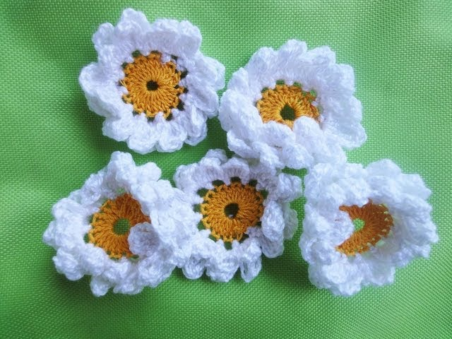 Двухъярусная РОМАШКА CAMOMILE Crochet