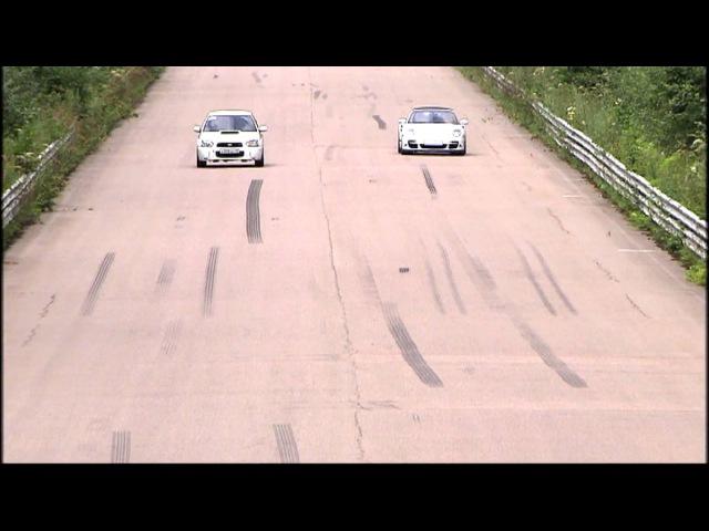 Moscow Unlim 500: Subaru Spec-C vs Porsche 911