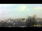 12 января Донецк Видео с вэбкамеры Грохот взрывов