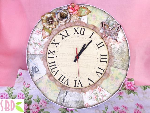 Orologio Shabby Chic Shabby Chic Clock DIY