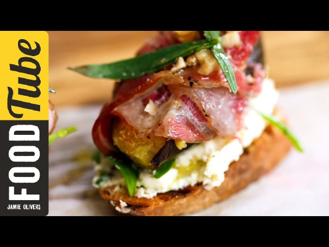 Pancetta, Fig Cheese Crostini   French Guy Cooking