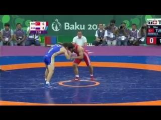 Баку первых в истории Европейских играх стартовал турнир борцов вольного стиля. В финале весовой категории до 74 кг россиянин Ан