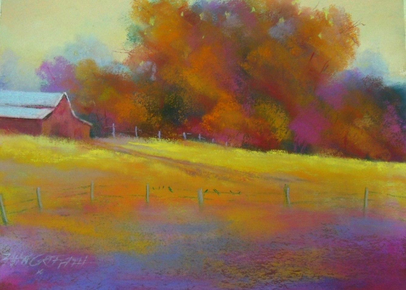 осень пастелью