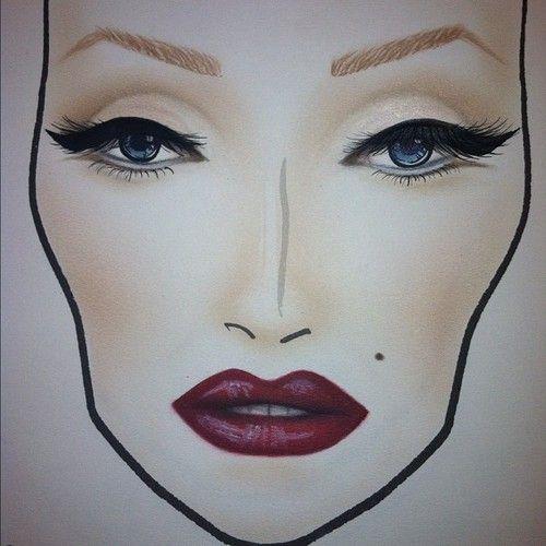#фейсчарт #макияж #схемы #