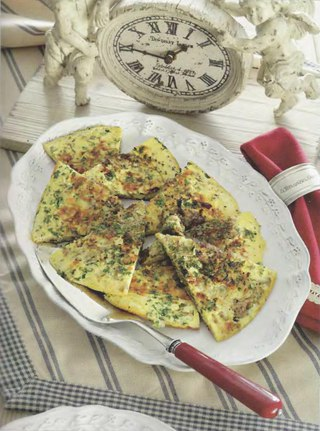 Фото рецепта: Фриттата с луком и бальзамическим уксусом