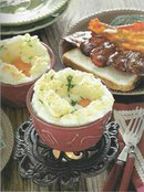 Фото рецепта: Запеченные яйца с сыром и остро-сладким беконом