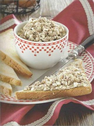 Фото рецепта: Пикантный яичный паштет с печенкой