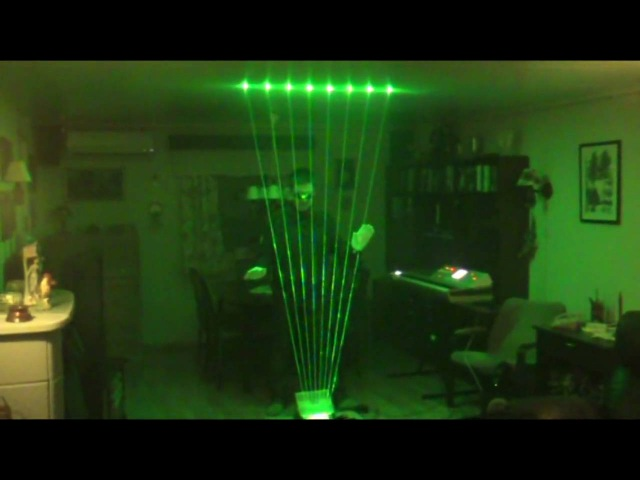 Laser Harp Cover Third Rendez vous by Jean Michel Jarre