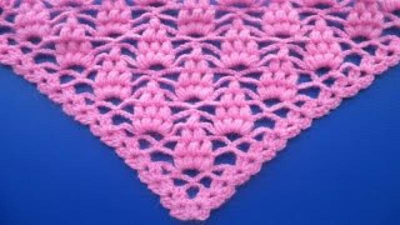 Chal tejido a crochet paso a paso en forma de uvas