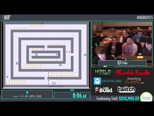 AGDQ 2015 N Speed Run in 0:19:39 by YetiRevolution AGDQ2015