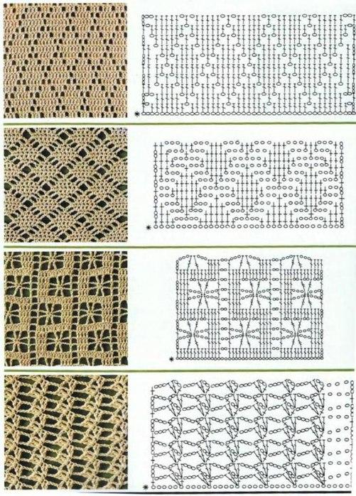 Рисунки для вязания крючком со схемами 13