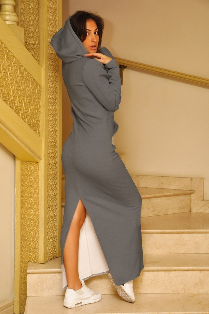 Платье Спортивное Длинное С Капюшоном Купить