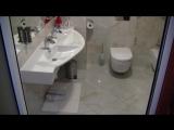 Оптоволокно в ванной комнате, освещение в полу.