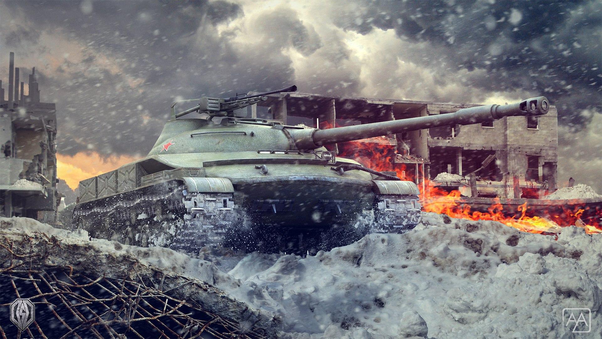 рисунок танк Объект 907