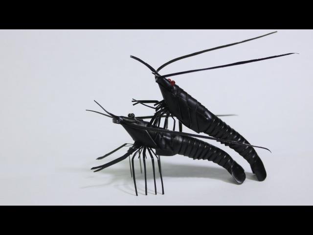 How to make a straw shrimp (빨대로 새우만드는법 )