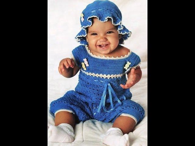 Боди для малыша 1 5 лет крючком для начинающих Часть1 bodysuit knit crochet for baby