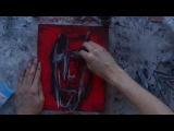 artist Aleksandr Alyonin film part2 (alone, art brut, crazy,pain art, expressive abstract, chalk)