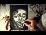 #socialhyperrealism artist Aleksandr Alyonin draw self-portraits, stress, art brut, outside art