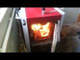 Твердотопливный котел Viadrus 40KW в работе