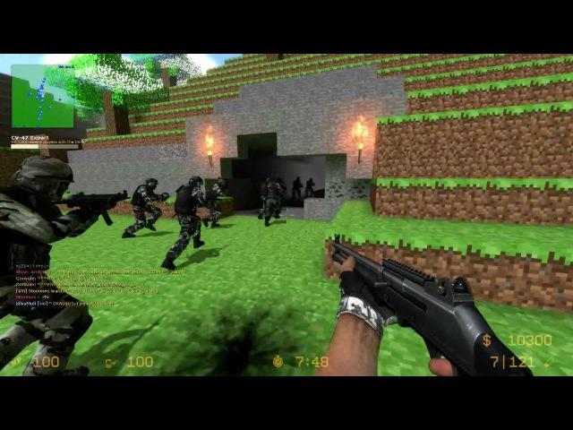 Counter-Strike Source Zombie Escape - ZE_MINECRAFT_V1_1 2 Funny fails [15Min] (1080p)