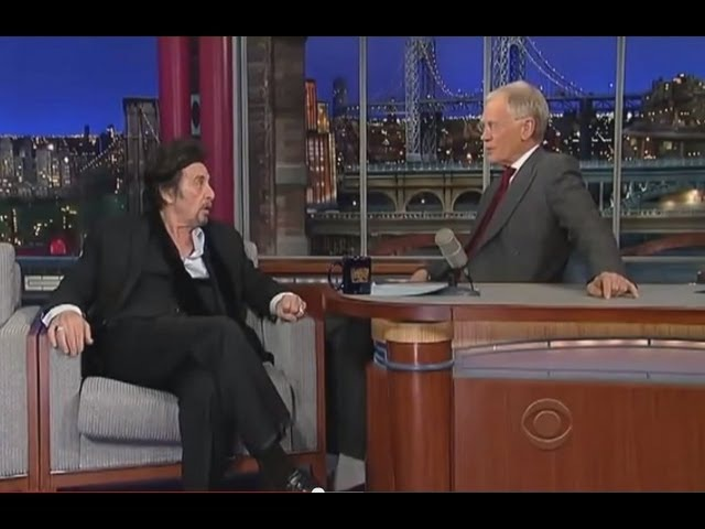 Kevin Spacey impersonates Al Pacino in front of Al Pacino - Letterman