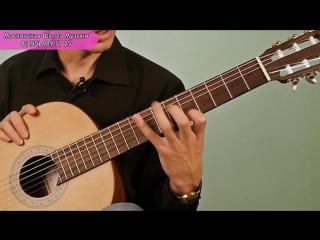 Вводный урок игры на классической гитаре (А.Казаков)