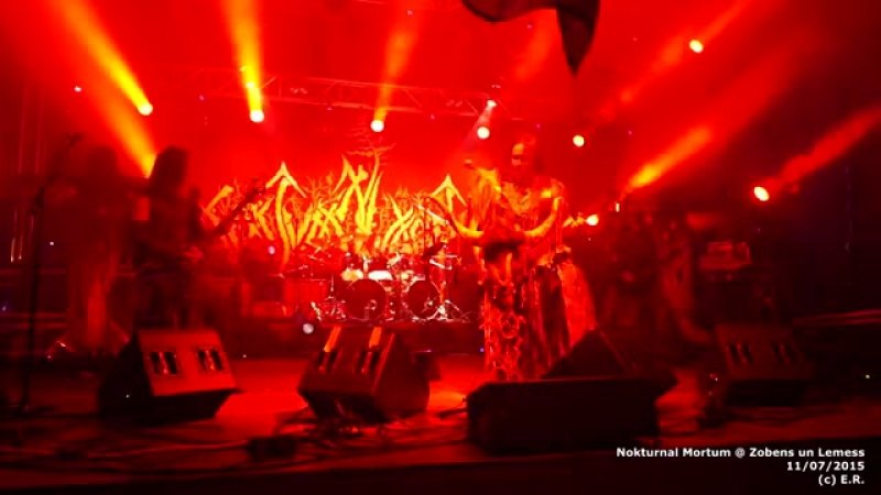 Nokturnal Mortum- Мольфа(NEW SONG!)Live in Latvia 11.07.2015.Zobens un Lemess