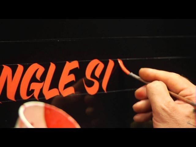 Single Stroke Lettering Demo by Glen Weisgerber