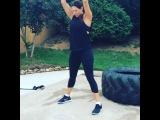 Lauren Kitt - Love medicine ball slams! Works your entire body! 5 sets of 30 #KittFit