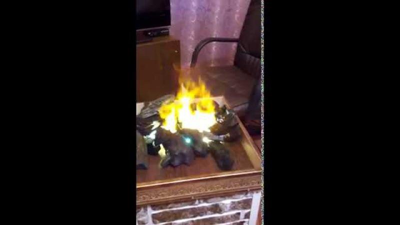 Как сделать искусственный огонь в домашних условиях