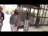 Jessica Alba departing at LAX Airport