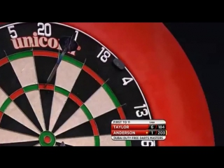 Phil Taylor vs Gary Anderson (2015 Dubai Duty Free Darts Masters / Semi Final)