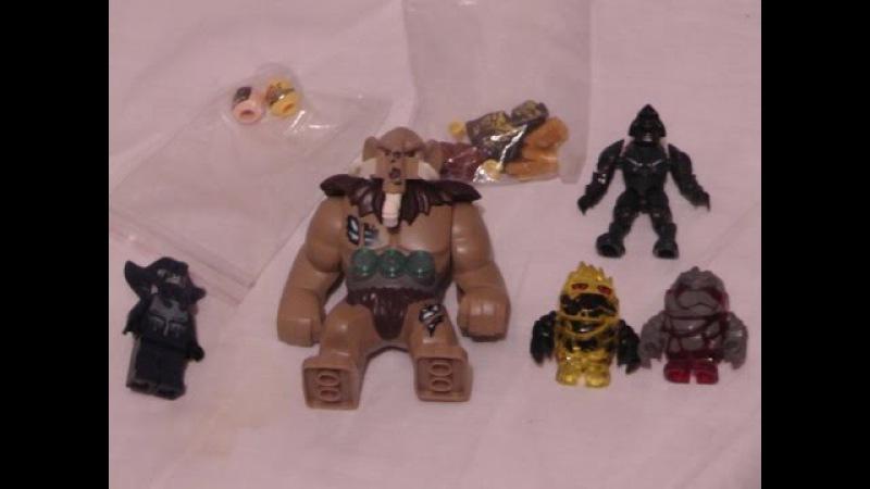 Обзор заказа Лего ( Мангус - биг фига , каменные монстры , магаблокс ковенант ,воин скат.....)
