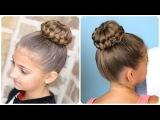 Очень красивая причёска с помощью резинки-валика!